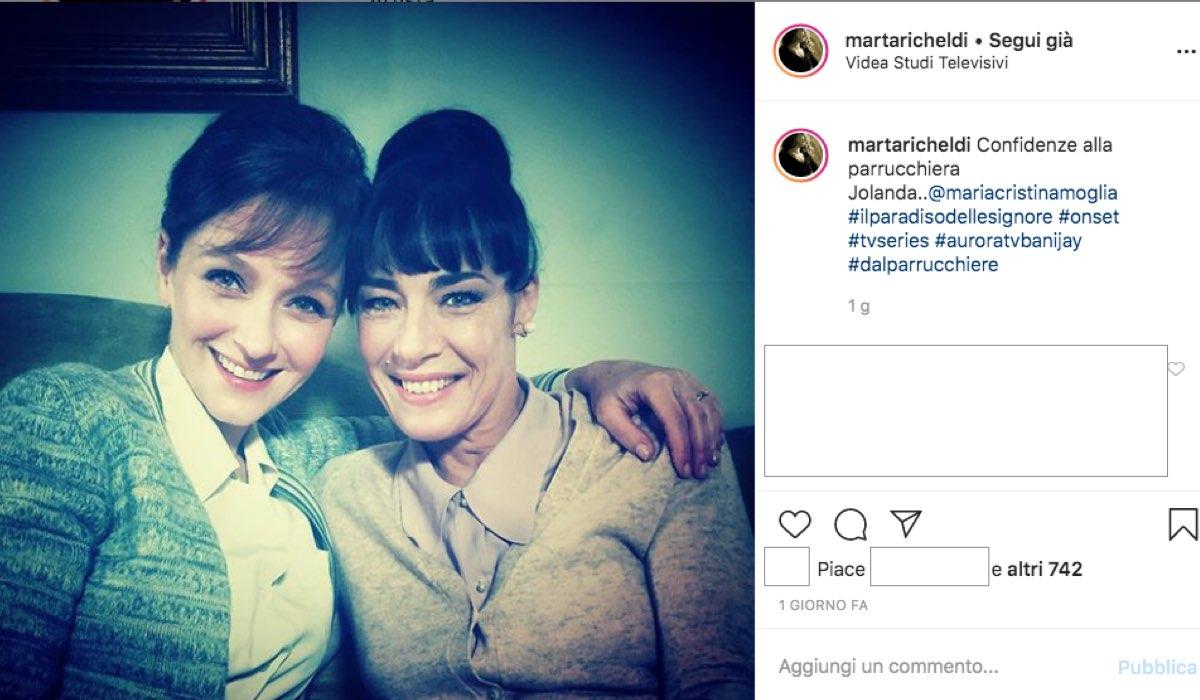 Il Paradiso delle Signore 4 foto pubblicata da Marta Richeldi, interprete di Silvia Cattaneo sul suo profilo Instagram il 30 gennaio 2020