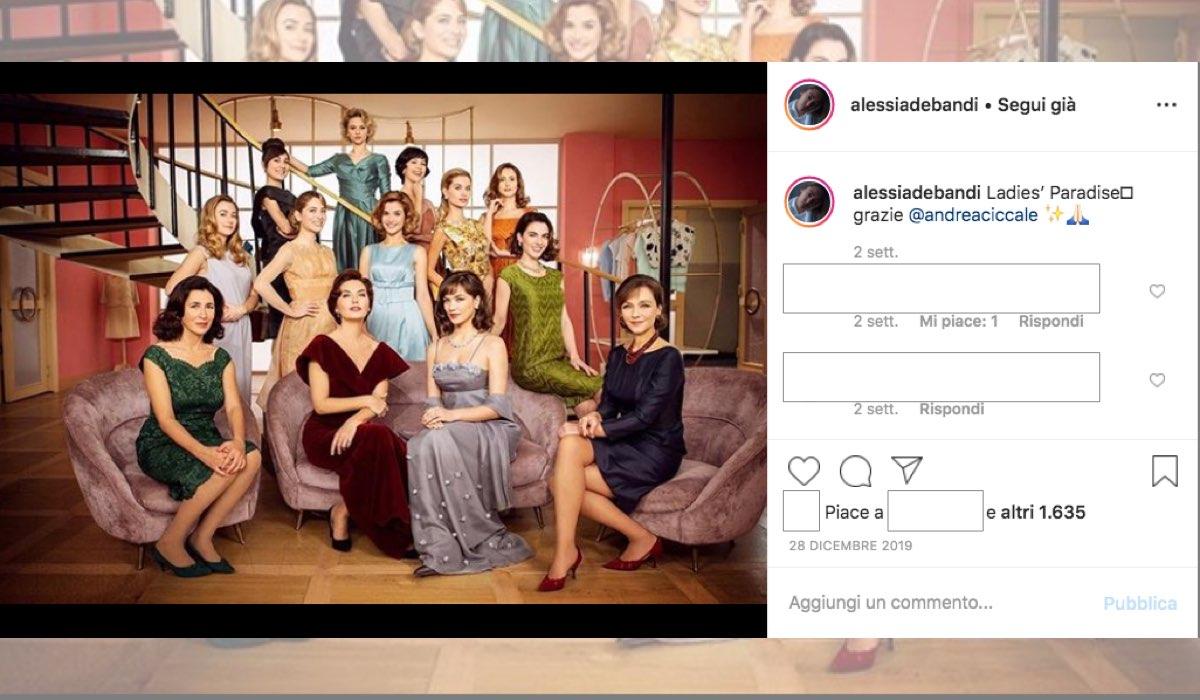 Il Paradiso delle Signore 4 foto pubblicata sul suo profilo Instagram da Alessia Debandi il 28 dicembre 2019, Credits Andrea Ciccale