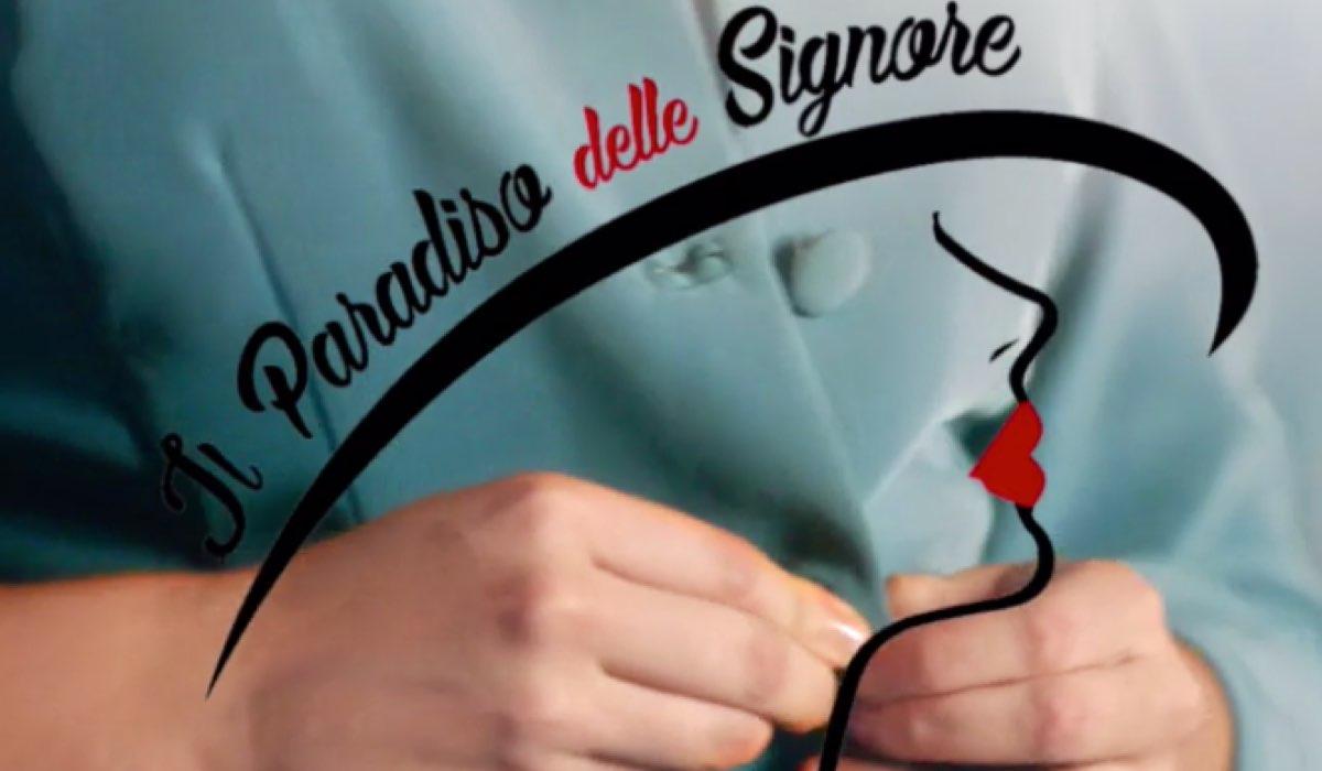 Il Paradiso delle Signore logo nella sigla Credits RAI