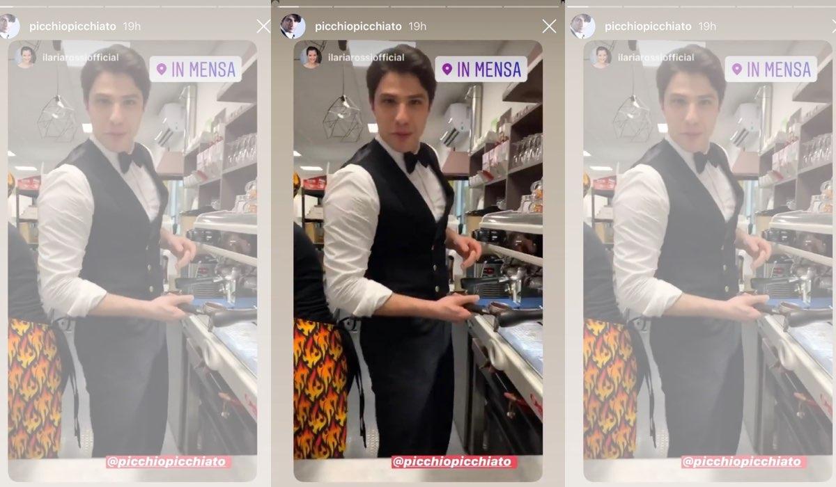 Pietro Masotti ricondivide la Stories di Ilaria Rossi sul suo profilo Instagram il 20 gennaio 2020 commentanto Il Paradiso delle Signore 4 Credits Ilaria Rossi e Pietro Masotti