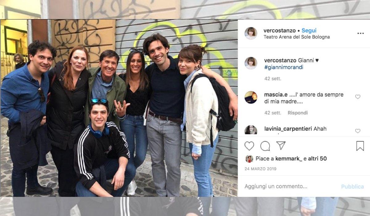 Verdiana Costanzo entra nel cast de Il Paradiso delle Signore 4, qui una foto pubblicata dall attrice sul suo profilo Instagram vercostanzo a marzo 2019 con Gianni Morandi e Pietro Masotti