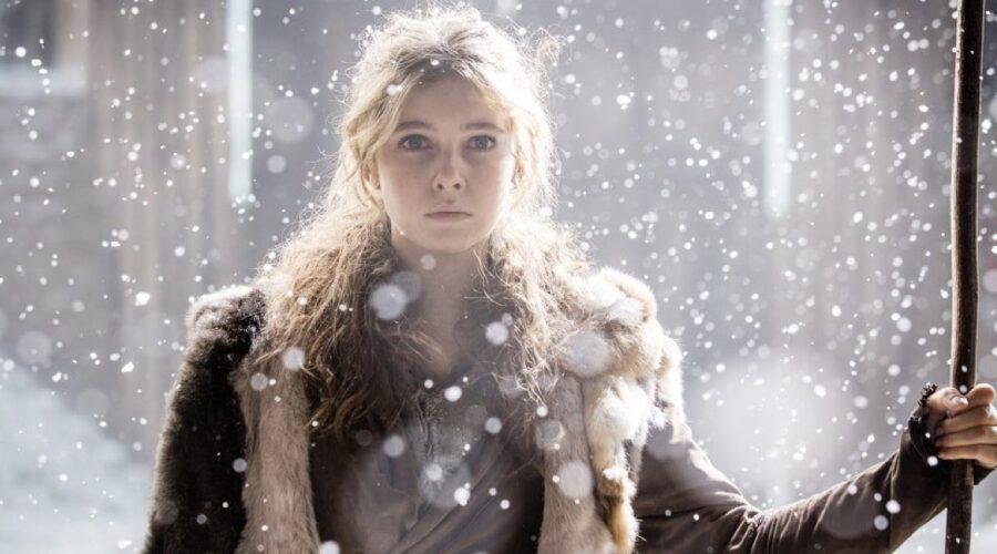 Eleanor Worthington Cox nei panni di Cait in Britannia. Credits: Sky.