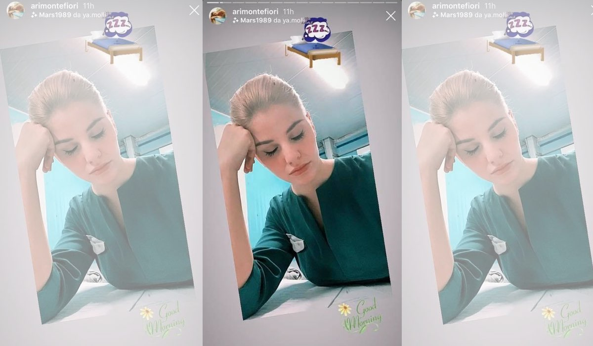 Arianna Montefiori entra nel cast de Il Paradiso delle Signore 4, qui in una IG Stories da lei pubblicata il 14 febbraio 2020