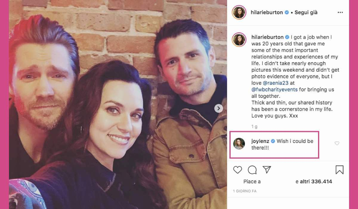 Chad Michael Murray Hilarie Burton e James Lafferty Instagram post