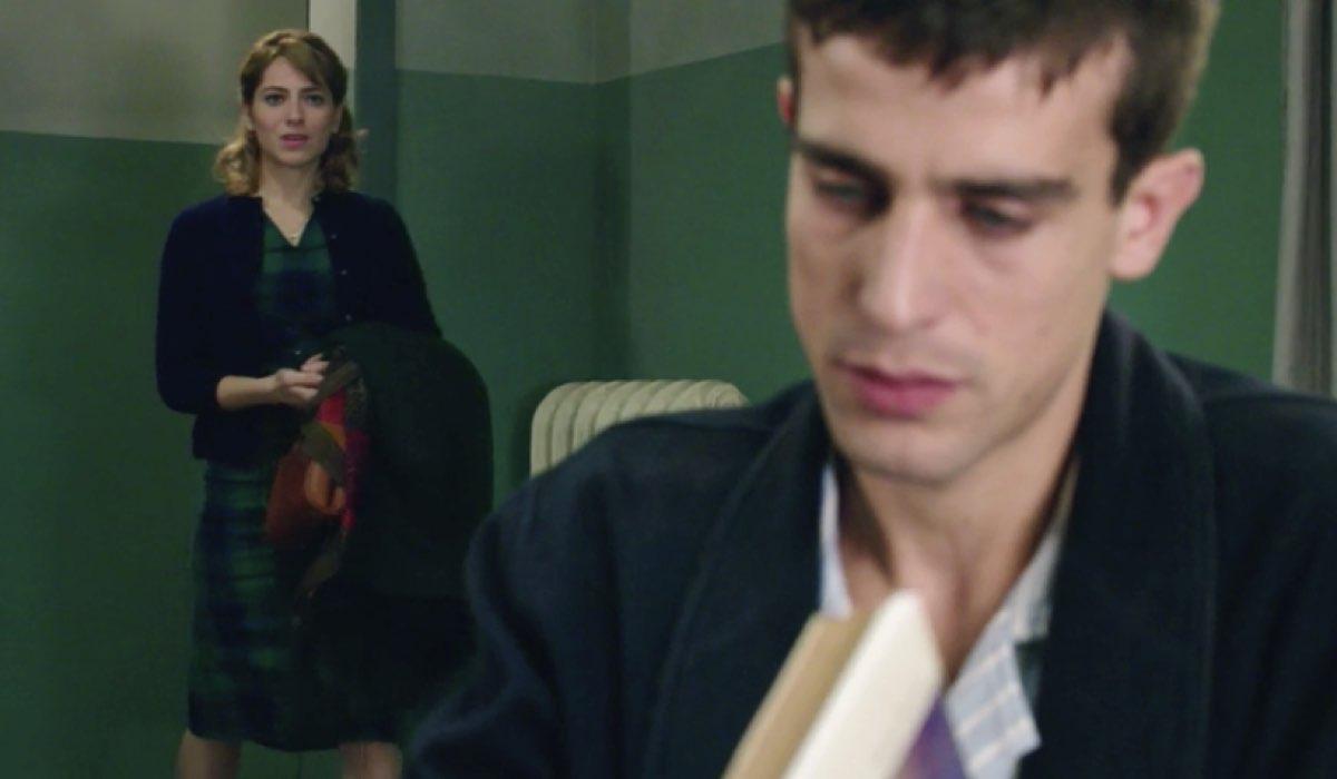 Il Paradiso delle Signore 4 Federico Cattaneo interpretato da Alessandro Fella e Roberta Pellegrino interpretata da Federica De Benedittis, qui nella puntata 75 Credits RAI