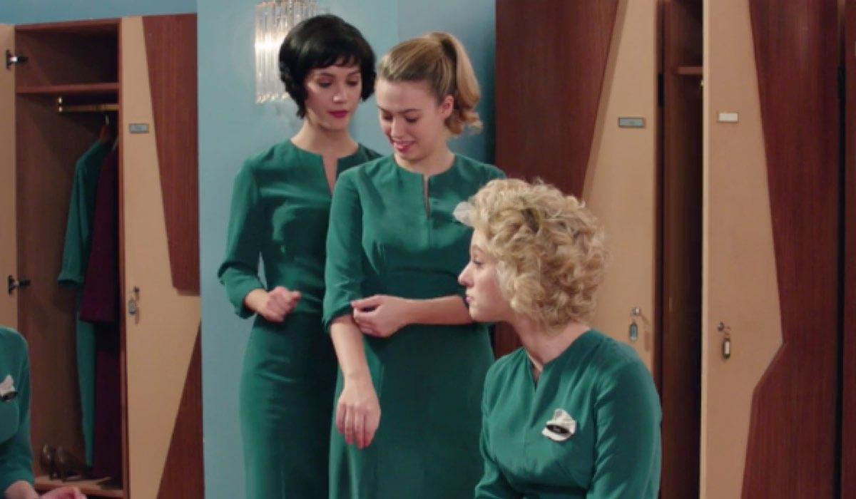 Il Paradiso delle Signore 4 Marina Fiore interpretata da Ludovica Coscione con Angela Barbieri e Irene Cipriani nella puntata 80 Credits RAI