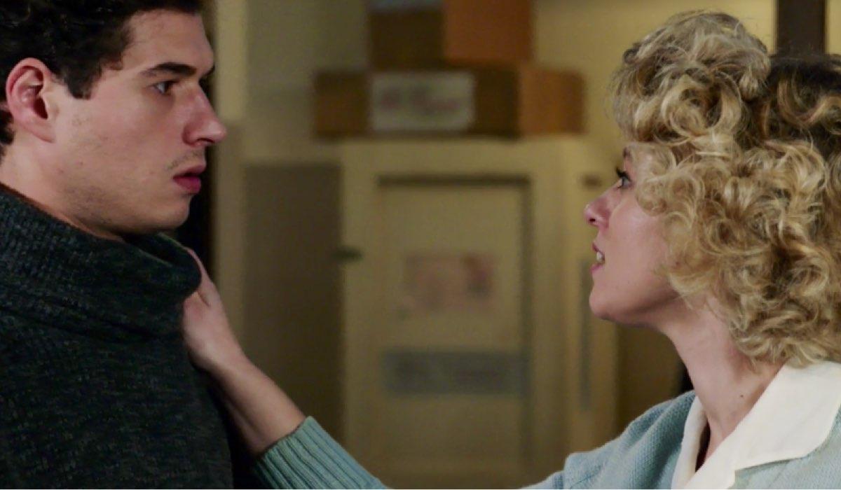 Il Paradiso delle Signore 4 Rocco interpretato da Giancarlo Commare e Irene interpretata da Francesca Del Fa nella puntata 88 Credits RAI