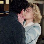Il Paradiso delle Signore 4 Rocco interpretato da Giancarlo Commare viene baciato da Irene interpretata da Francesca Del Fa nella puntata 88 Credits RAI