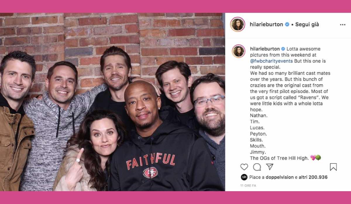One Tree Hill reunion via Instagram Hilarie Burton