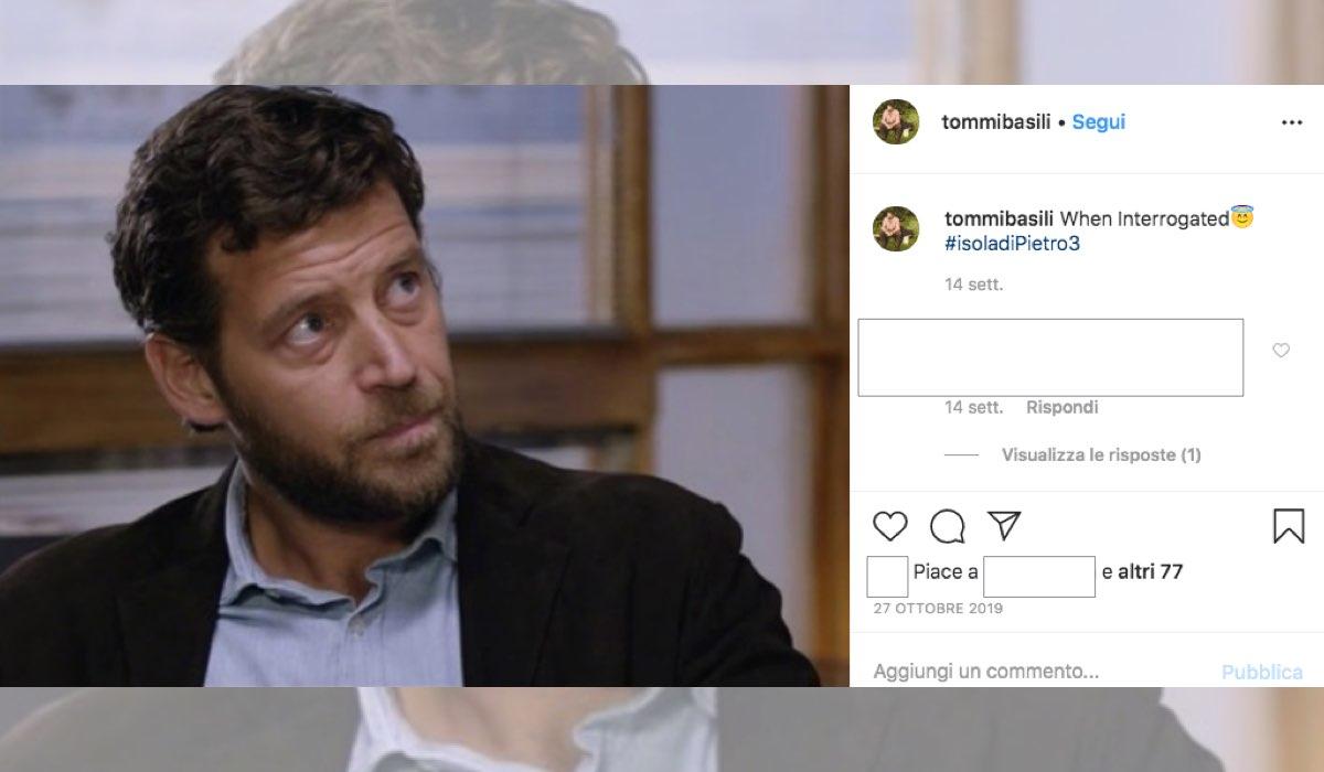 Tommaso Basili entra nel cast de Il Paradiso delle Signore 4, qui in una foto pubblicata dall'attore sul suo profilo IG il 27 ottobre 2019 commentata con l'hashtag L'isola di Pietro 3 Credits Mediaset