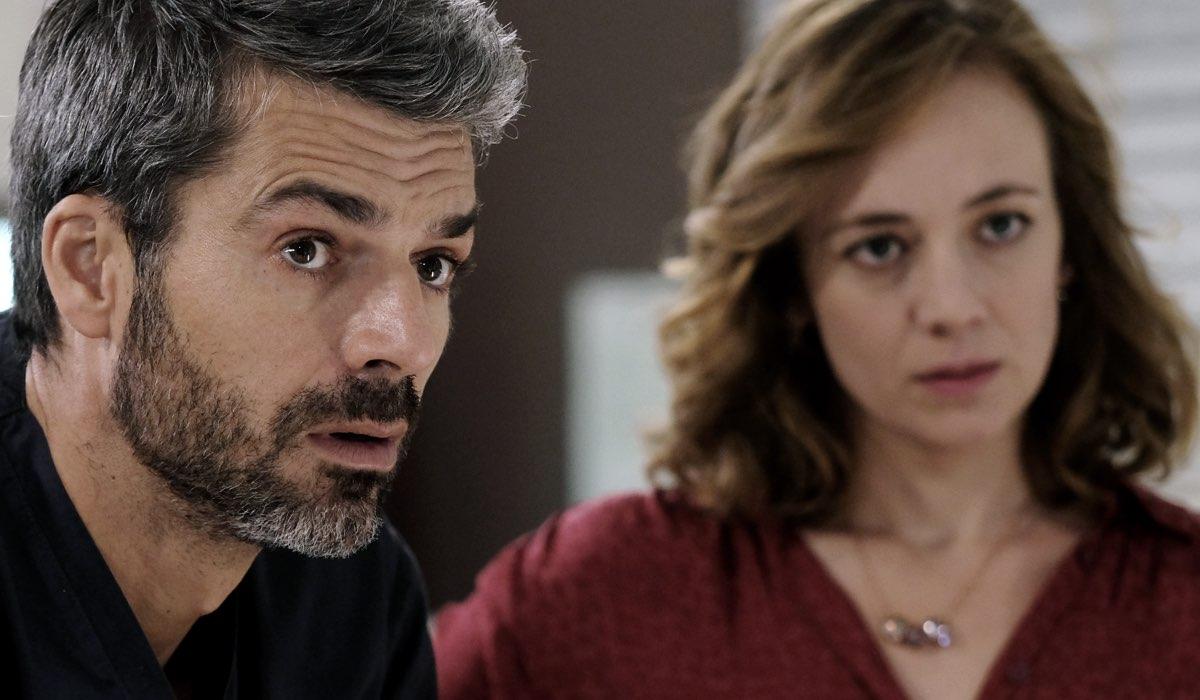 Doc - Nelle tue mani Andrea Fanti e Agnese Tiberi interpretati rispettivamente da Luca Argentero e Sara Lazzaro Credits RAI