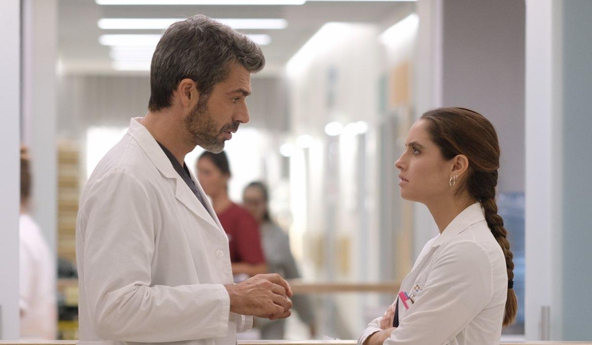 Doc - Nelle tue mani Andrea Fanti e Giulia Giordano interpretati rispettivamente da Luca Argentero e Matilde Gioli Credits RAI