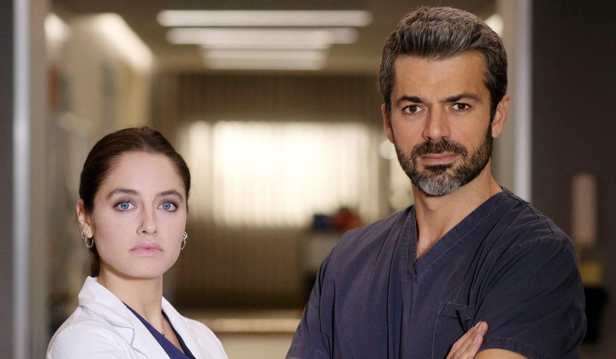 Doc - Nelle tue mani Giulia Giordano e Andrea Fanti interpretati rispettivamente da Matilde Gioli e Luca Argentero Credits RAi