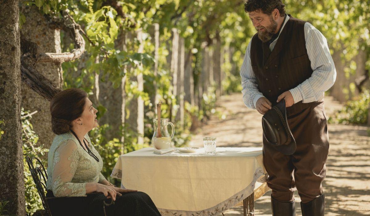 Francisca e Mauricio ne Il Segreto soap opera, Credits ATRESMEDIA CORPORACION DE MEDIOS DE COMUNICACION S.A. e Mediaset