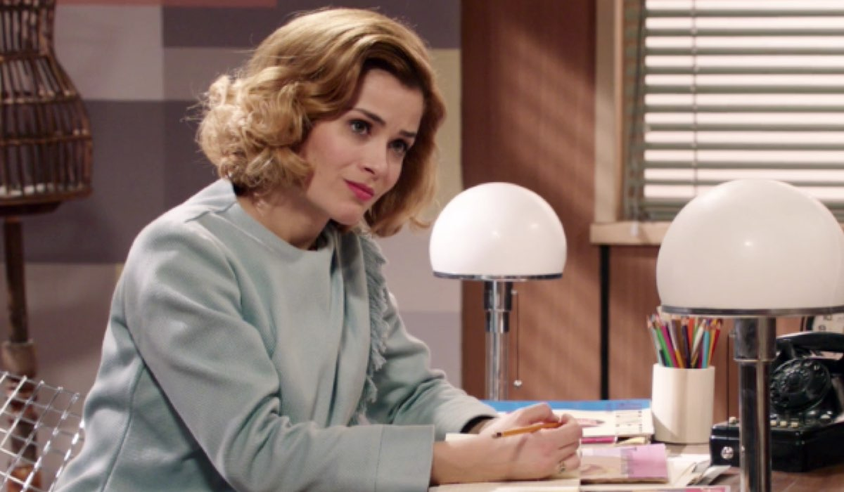 Il Paradiso delle Signore 4 Gabriella Rossi interpretata da Ilaria Rossi nell atelier del grande magazzino, qui nella puntata 88 Credits RAI