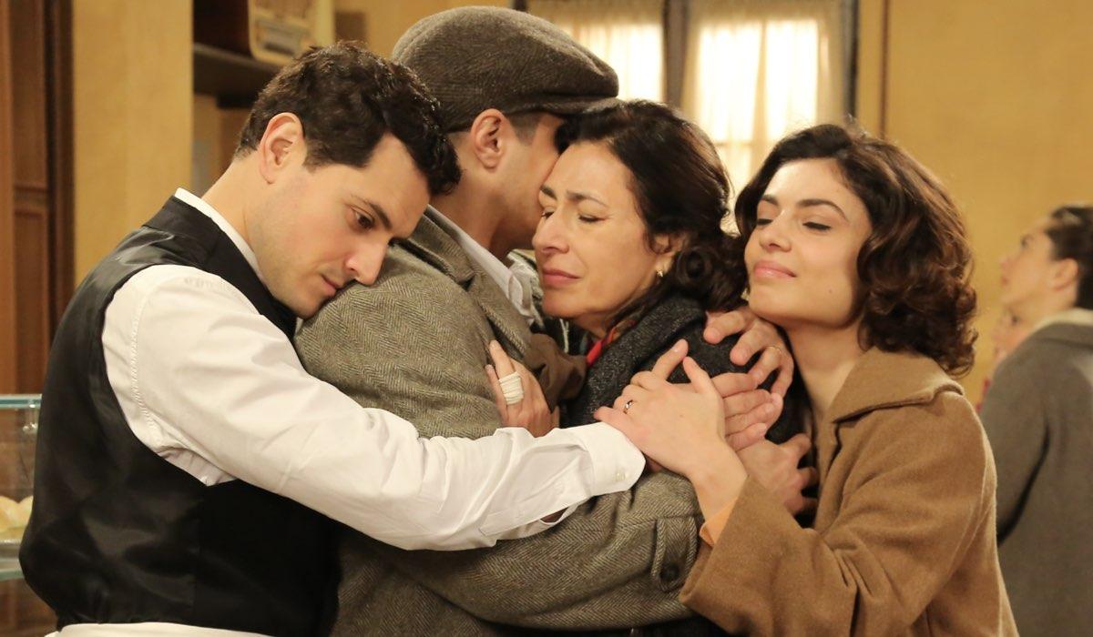 Il Paradiso delle Signore Daily 2 Salvatore, Antonio, Agnese e Elena Credits P. Bruni e RAI