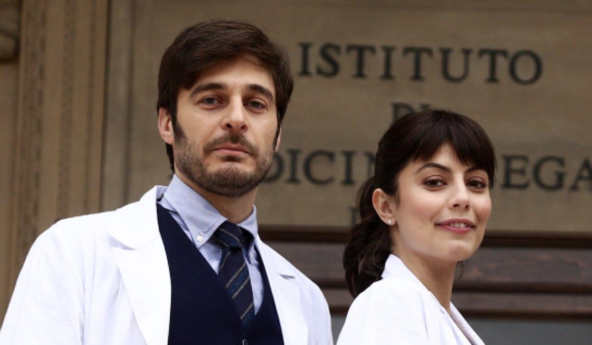L allieva Claudio Conforti e Alice Allevi interpretati rispettivamente da Lino Guanciale Credits RAI