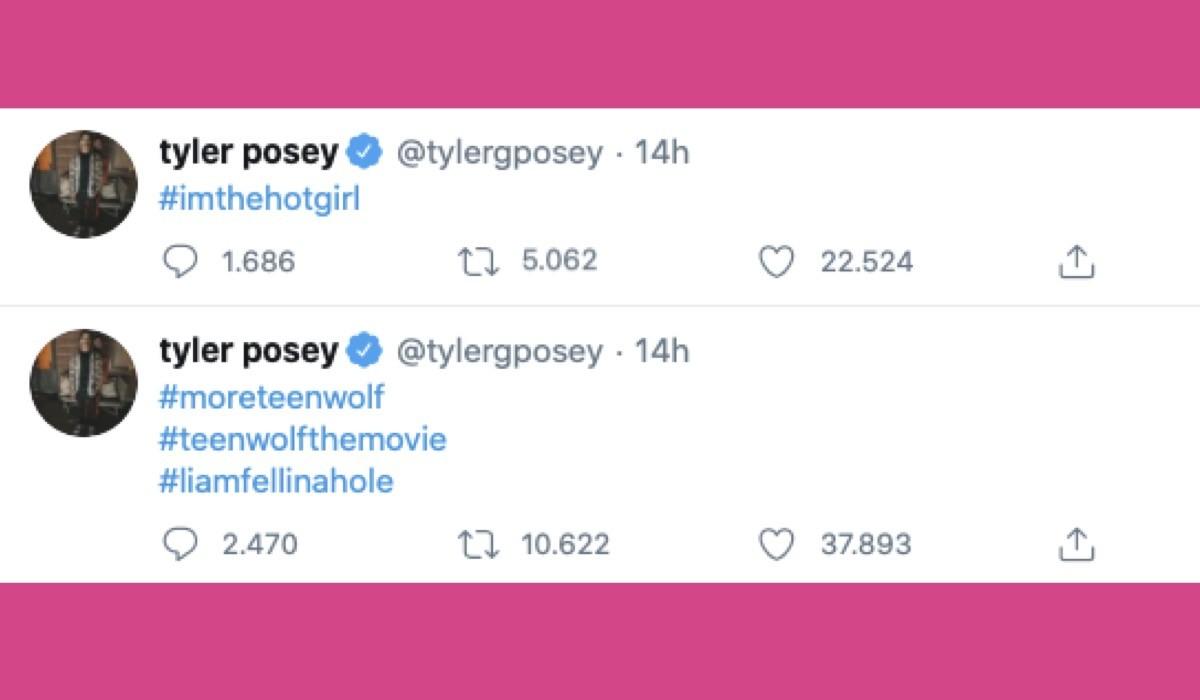 Tyler Posey Tweet Hashtag Teen Wolf revival credits Twitter @tylergposey