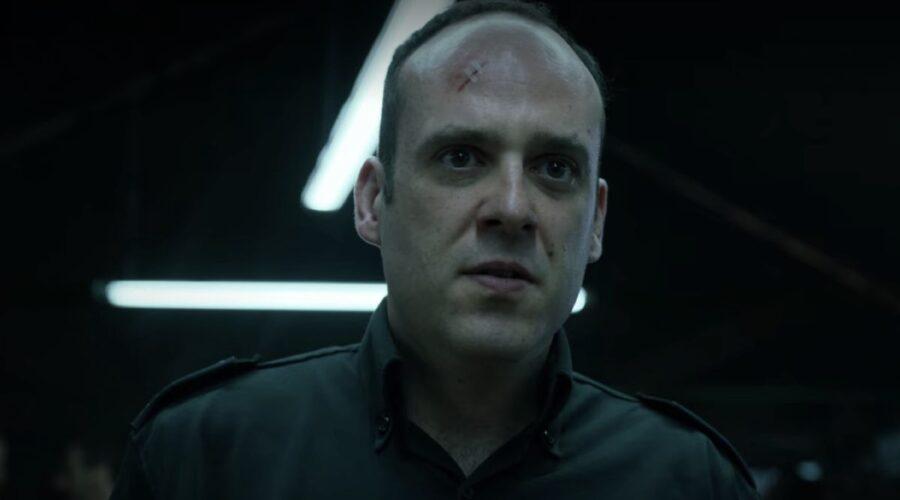 Antonio Romero nei panni di Antoñanzas ne La Casa di Carta 4. Credits Netflix