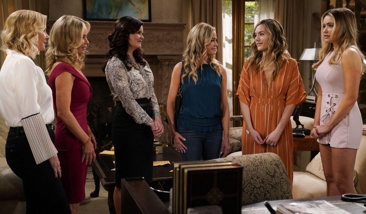 Brooke, Donna, Katie, Shauna, Hope e Flo in Beautiful soap opera Credits BBL Distribution e Mediaset