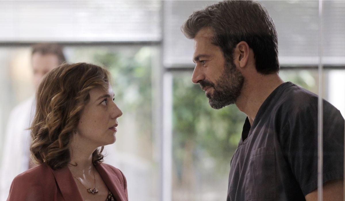 Doc - Nelle tue Mani Agnese Tiberi e Andrea Fanti interpretati rispettivamente da Sara Lazzaro e Luca Argentero Credits RAI