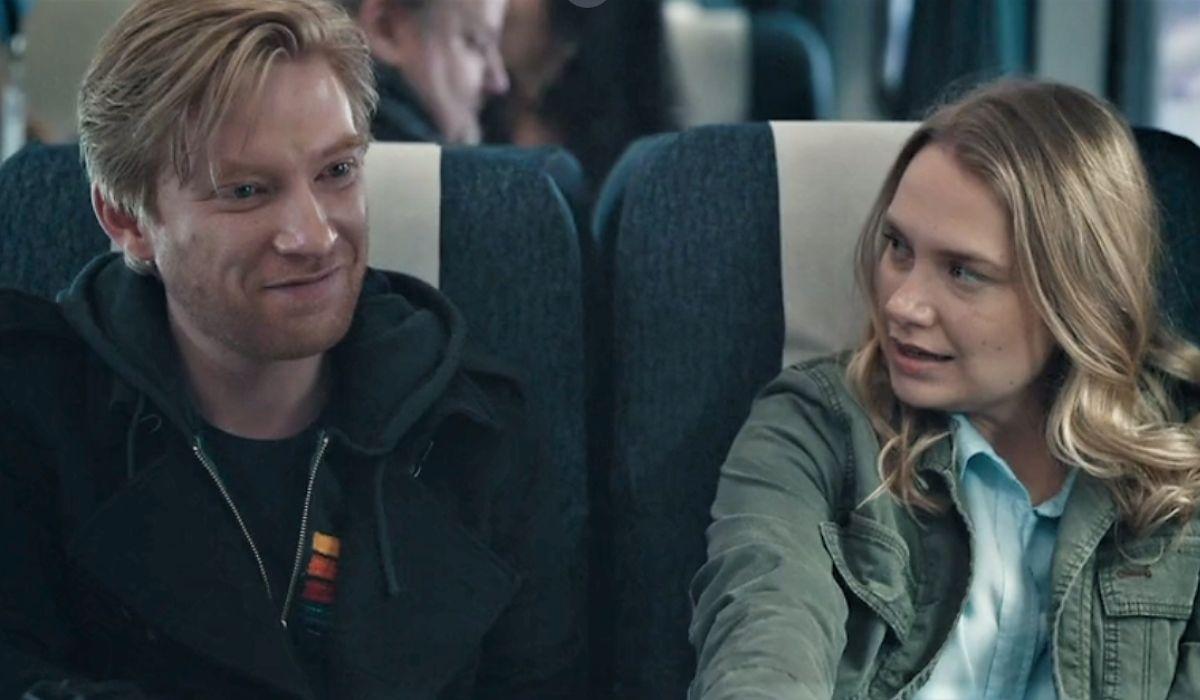 Domhnall Gleeson e Merritt Wever in Run serie tv, Credits Sky ed HBO
