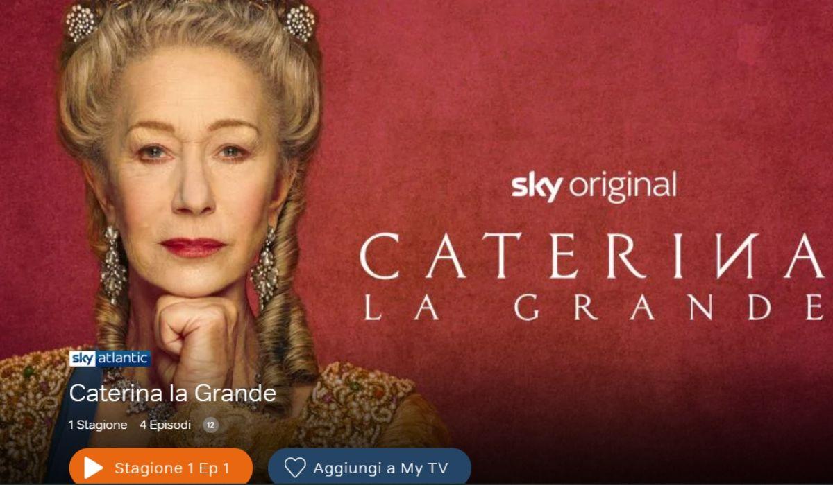 Helen Mirren in Caterina la Grande, serie tv Credits Sky e NOW TV