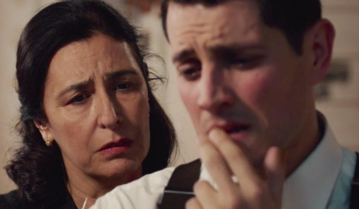 Il Paradiso delle Signore 4 Agnese e Salvatore Amato interpretati da Antonella Attili e Emanuel Caserio, qui nella puntata 135 Credits RAI