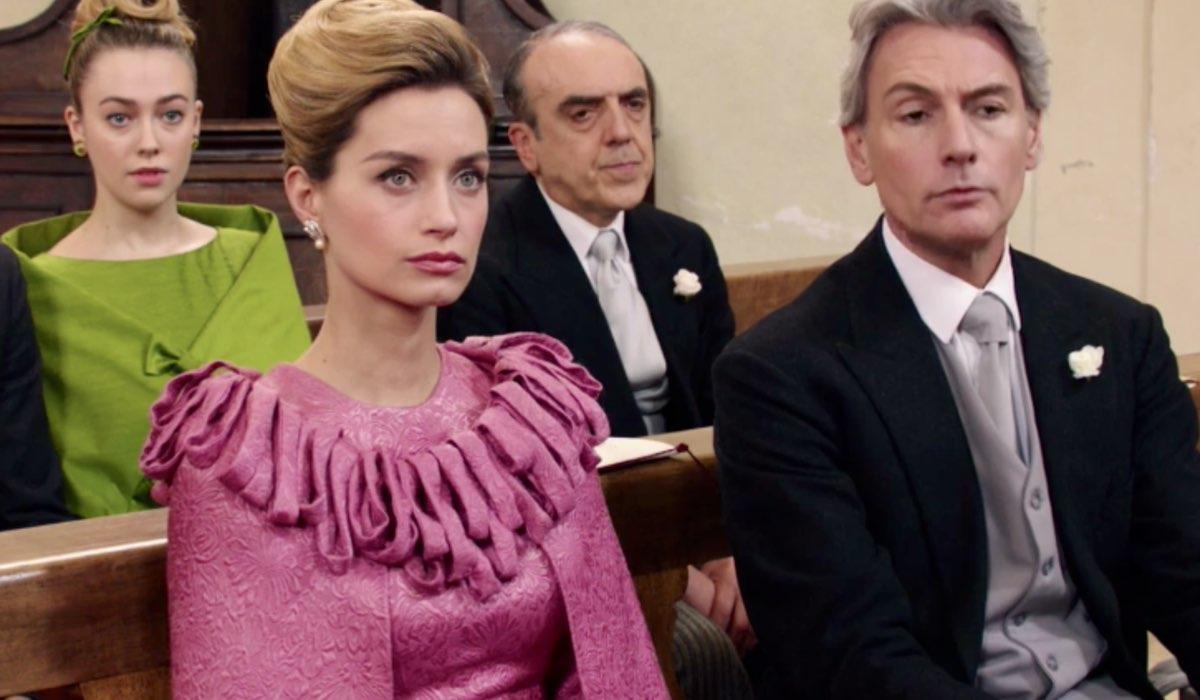 Il Paradiso delle Signore 4 Angela, Italo, Ludovica e Umberto al matrimonio di Adelaide e Achille nella puntata 124 Credits RAI
