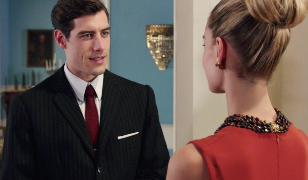 Il Paradiso delle Signore 4 Riccardo e Ludovica interpretati rispettivamente da Enrico Oetiker e Giulia Arena, qui nella puntata 77 Credits RAI