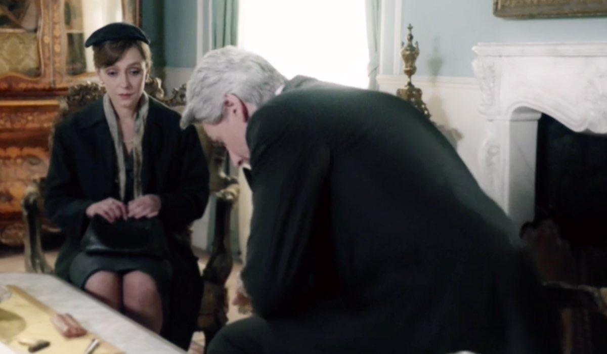 Il Paradiso delle Signore 4 Silvia Cattaneo e Umberto Guarnieri interpretati da Marta Richeldi e Roberto Farnesi, qui nella puntata 120 Credits RAI