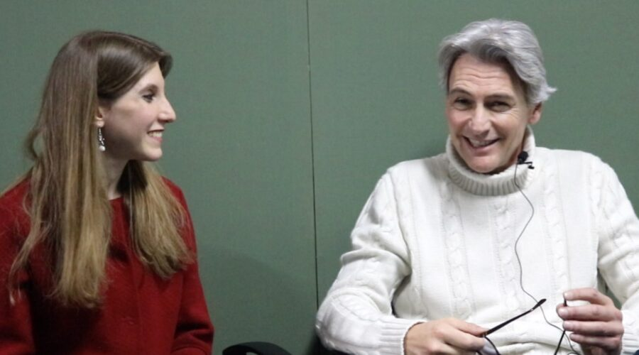 Il Paradiso delle Signore Daily 2 intervista a Roberto Farnesi interprete di Umberto Guarnieri sul set della soap il 5 febbraio 2020