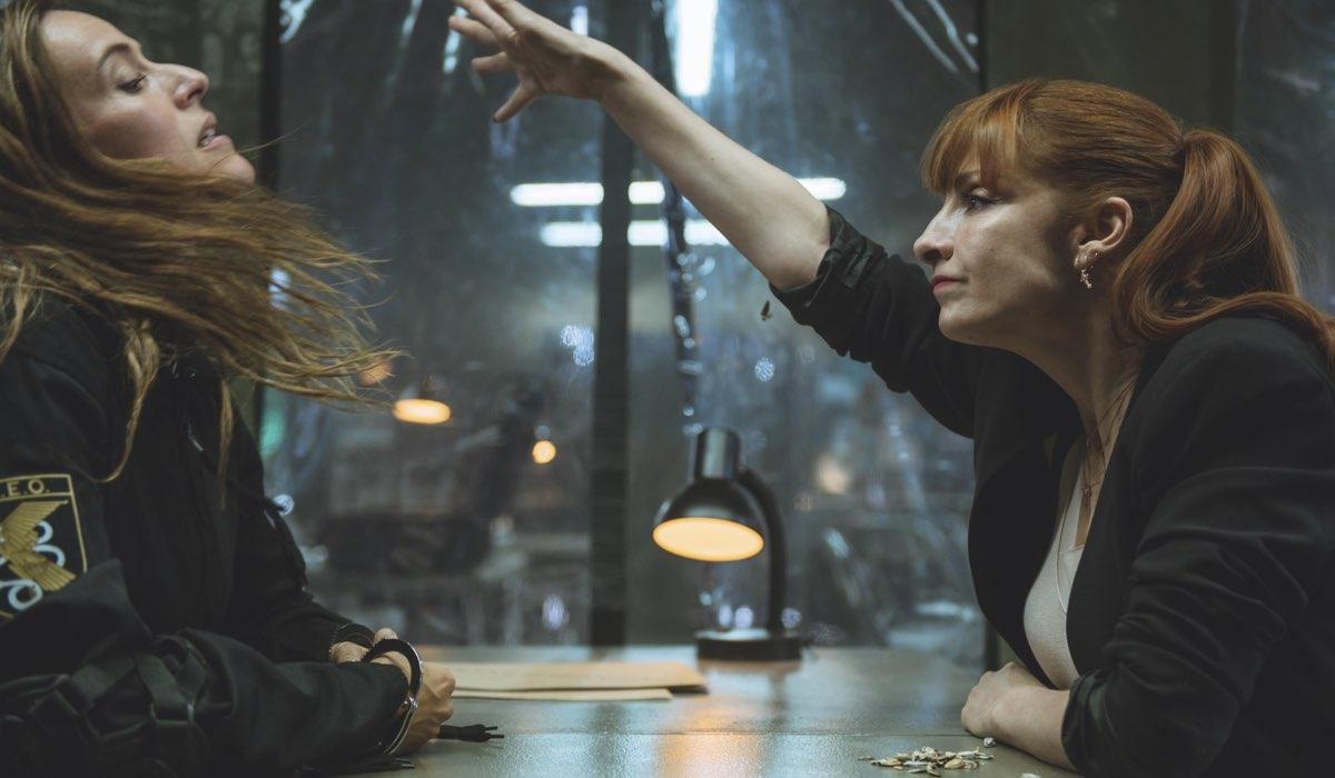 Itziar Ituño e Najwa Nirmi nei panni di Lisbona e Alicia ne La Casa di Carta 4. Credits Netflix