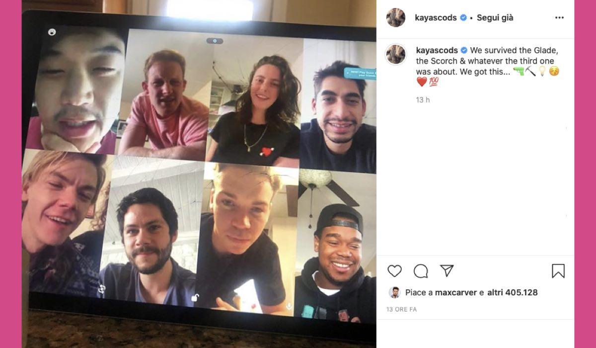 Kaya Scodelario Instagram Dylan O'Brien e Thomas Sangster Maze Runner reunion credits @kayascods