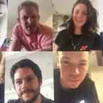 Ki Hong Lee, Chris Sheffield, Kaya Scodelario, Alexander Flores, Thomas Sangster, Dylan O'Brien, Will Poulter e Dexter Darden credits Instagram @kayascods