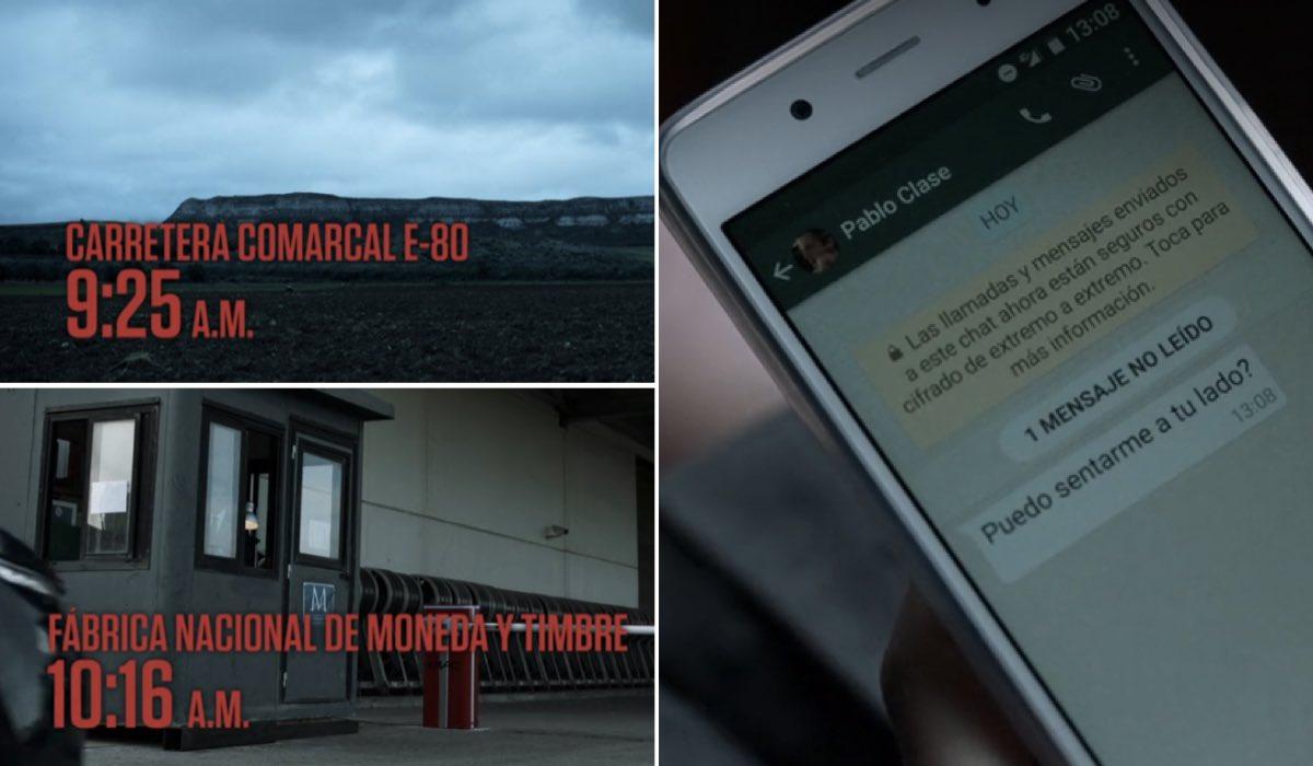 La Casa di Carta 1x01 errore di orario credits Netflix