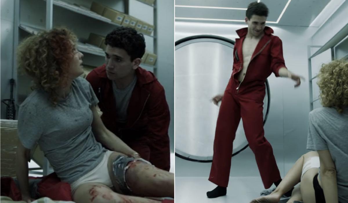 La Casa di Carta 1x05 e 1x12 Esther Hacebo nei panni di Monica errori credits Netflix