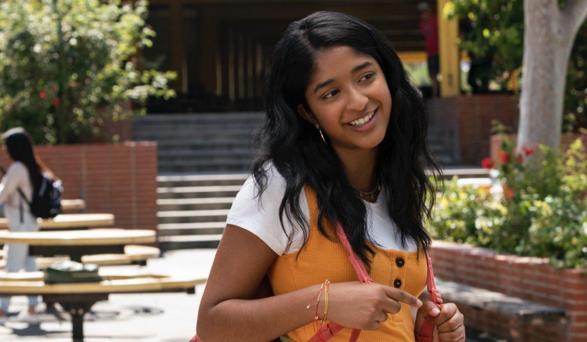 Maitreyi Ramakrishnan in Non Ho Mai. Credits Lara Solanki/Netflix