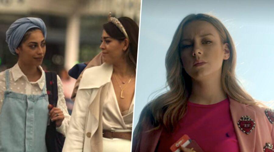Mina El Hammani, Danna Paola e Ester Exposito sono Nadia, Lu e Carla nell'episodio 3x08 di Elite credits Netflix