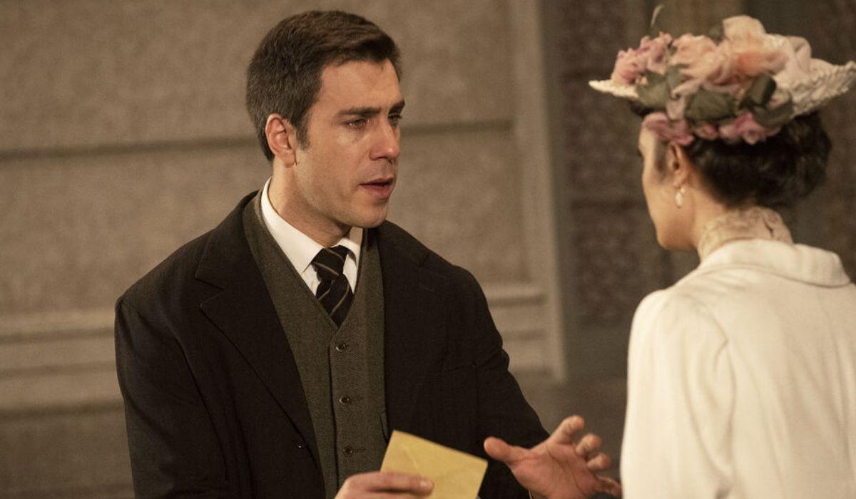 Padre Telmo e Lucia in Una Vita, soap opera Credits Mediase