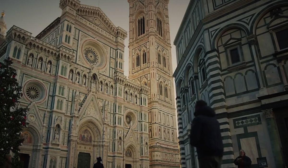 Scena di Firenze dal trailer de La casa di carta 3 stagione, Credits Netflix