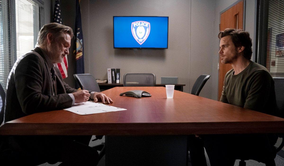 The Sinner 3 BILL PULLMAN interpreta DETECTIVE LT. HARRY AMBROSE, MATT BOMER interpreta JAMIE BURNS Credits 2020 NBC Universal All Rights Reserved