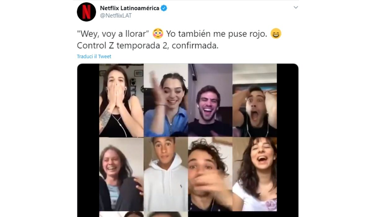 Control Z 2 confermata, tweet ufficiale di Netflix Latioamérica