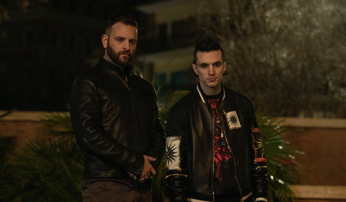 Da sinistra: Alessandro Borghi e Giacomo Ferrara in una scena di Suburra 3 Credits: Netflix