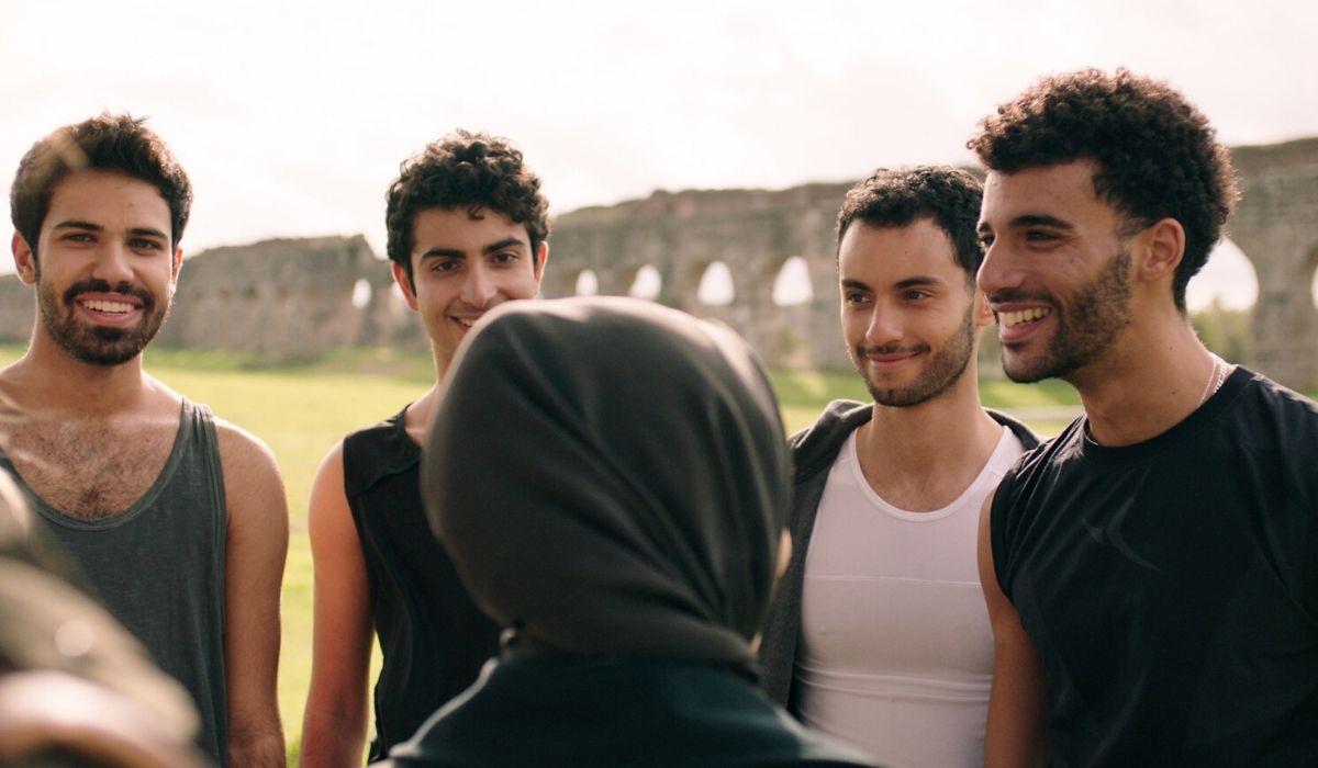 Da sinistra Luai, Driss, Malik e Rami in SKAM Italia 4, Credits Timvision