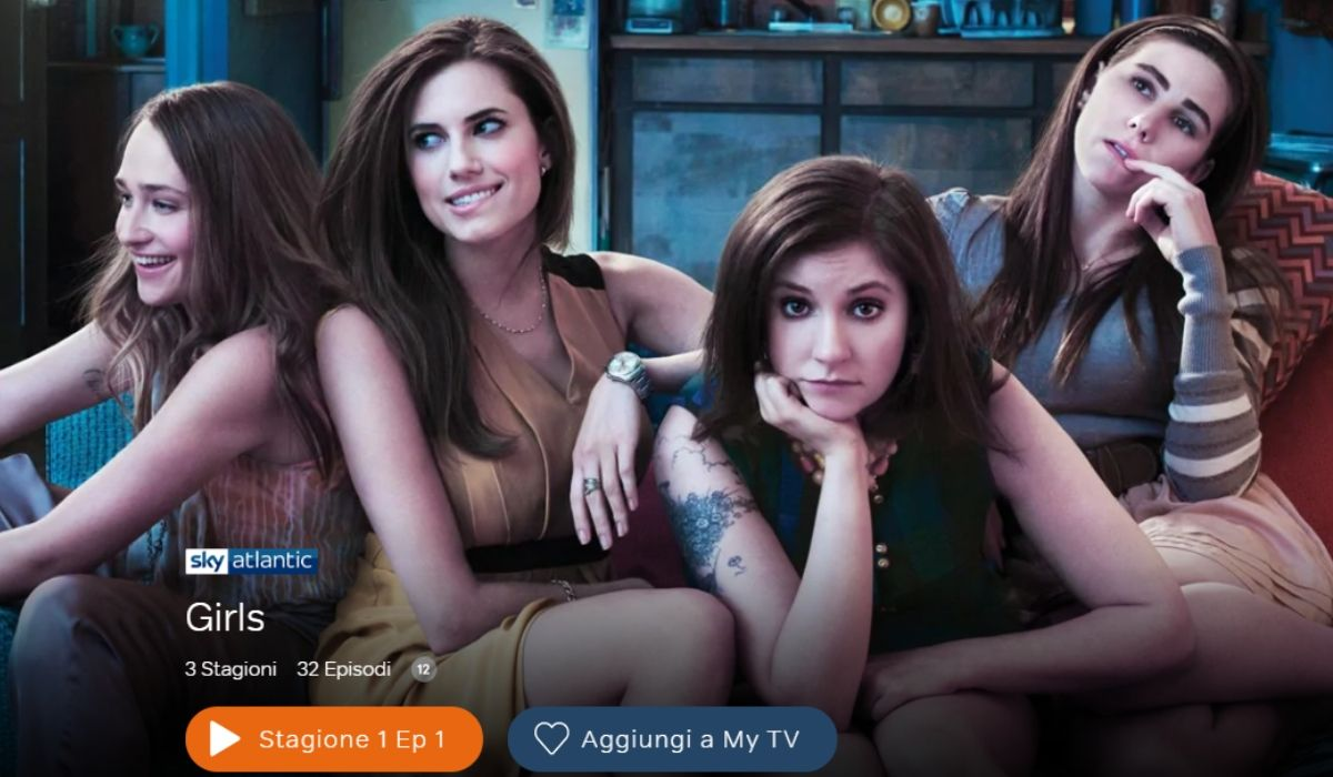 Girls serie tv è disponibile in streaming su NOW TV, Credits Sky