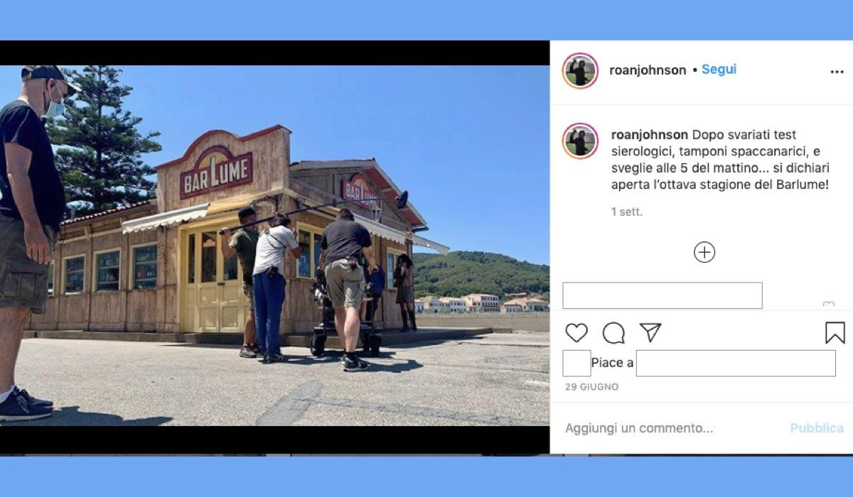 I Delitti del BarLume 8 foto dal set pubblicata dal regista Roan Johnson sul suo profilo Instagram il 29 giugno 2020