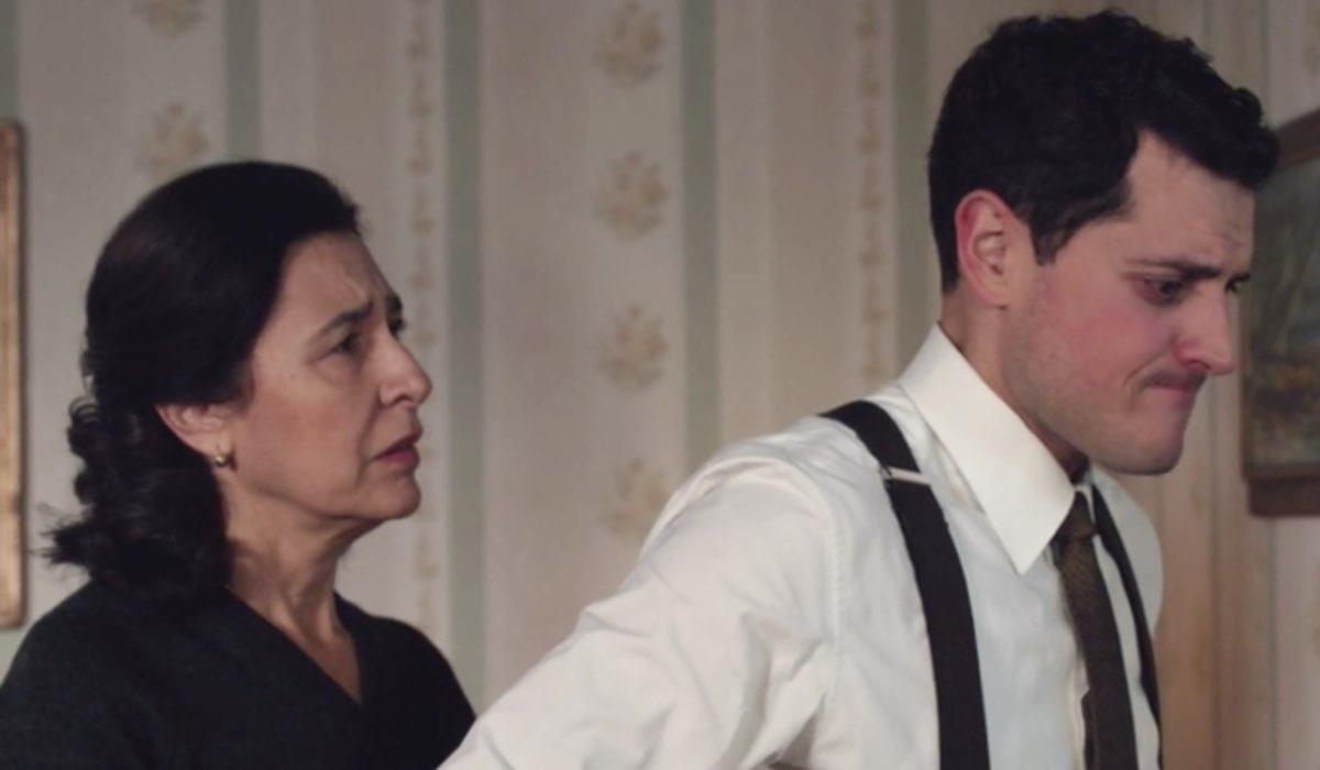 Il Paradiso delle Signore 4 Agnese e Salvatore interpretati da Antonella Attili e Emanuel Caserio, qui nella puntata 135 Credits RAI
