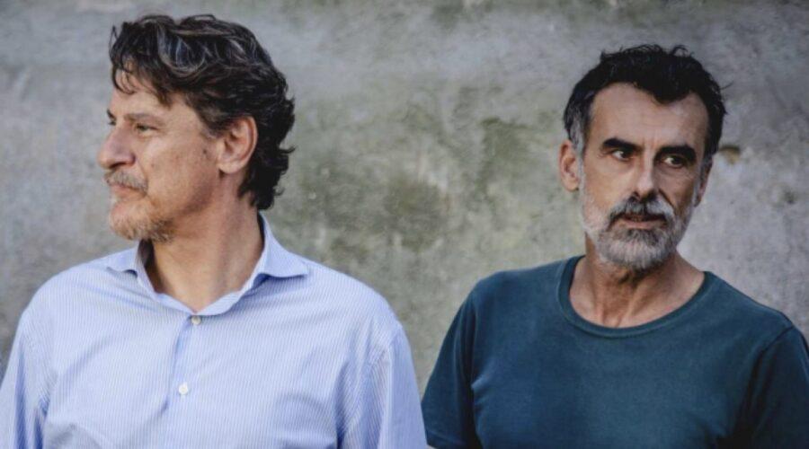 Liberi Tutti fiction con Giorgio Tirabassi nei panni di Michele e Thomas Trabacchi nei panni di Riccardo Credits RAI
