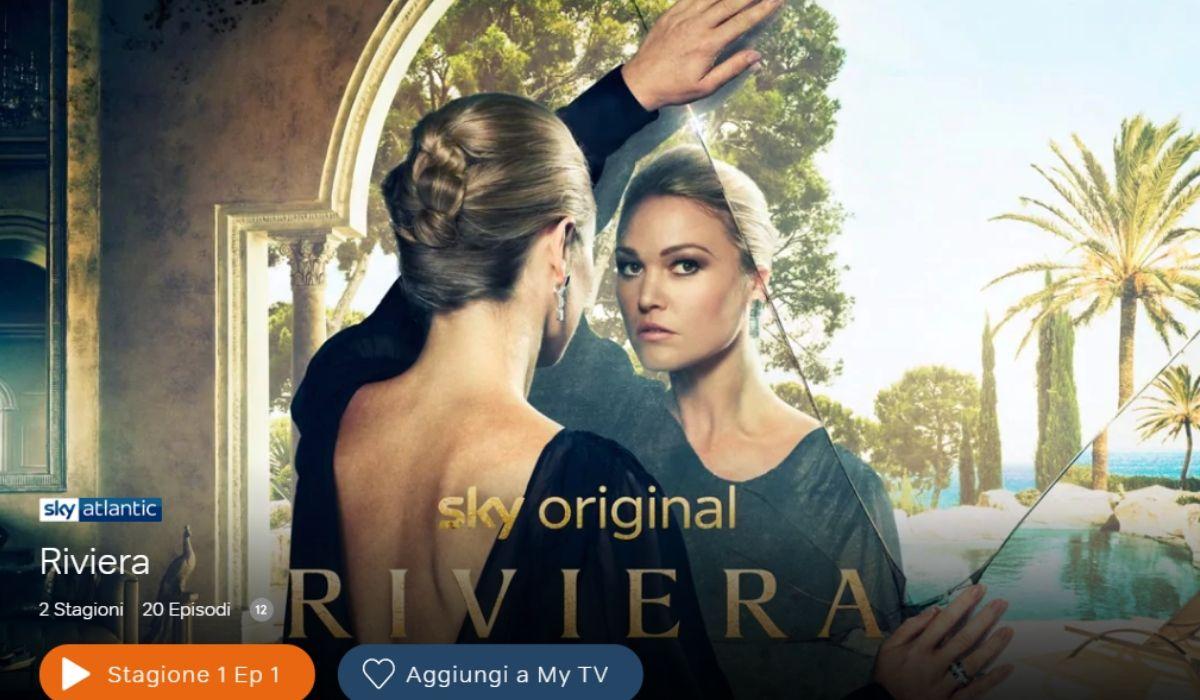 Riviera è ora disponibile in streaming su NOW TV, Credits SKY
